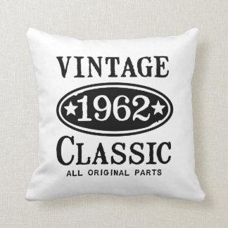 Vintage Classic 1962 Throw Pillow