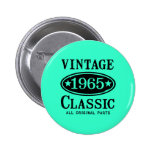 Vintage Classic 1965 Buttons