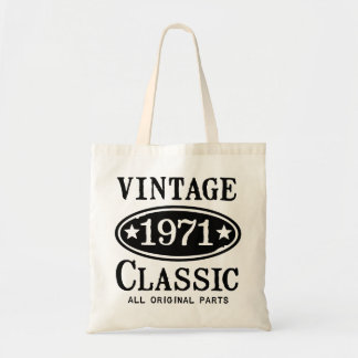 Vintage Classic 1971 Budget Tote Bag