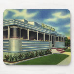 Vintage Classic 50s Retro Restaurant Pelican Diner Mouse Pad