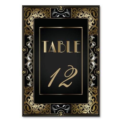 Vintage Classic Gatsby Style  Table Number Table Card
