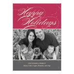 Vintage Classic Holiday Photo Cards Card