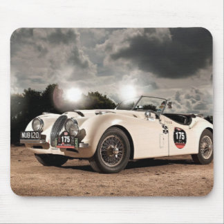 Vintage Classic Jaguar Car Mouse Mat