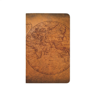 Vintage Classic Old World Travel Map Journals