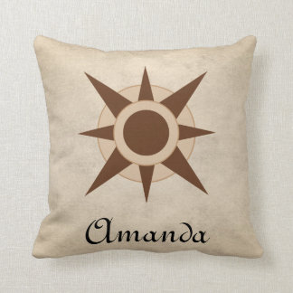 Vintage Classic Pirate Compass  Nursery Decor Cushion