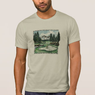 Vintage classic scenic golf course guys tee