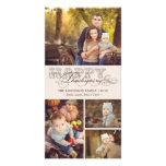 Vintage Classic Scrolls Thanksgiving Holiday Photo Custom Photo Card