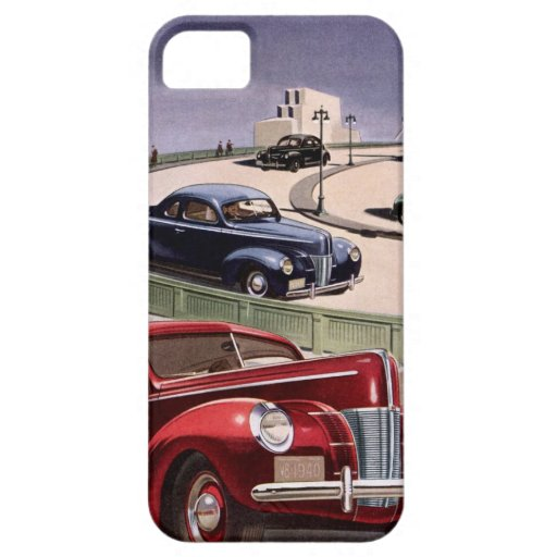 Vintage Classic Sedan Cars Driving on the Freeway iPhone 5 Case