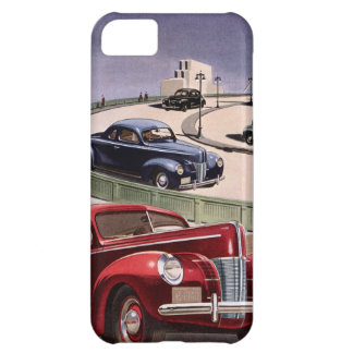 Vintage Classic Sedan Cars Driving on the Freeway iPhone 5C Case