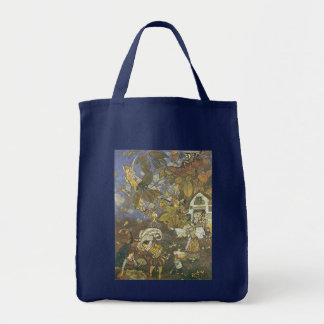 Vintage Classic Storybook Characters, Edmund Dulac Grocery Tote Bag
