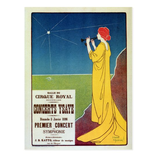 Vintage classical music concert Brussels ad Postcard