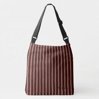 Vintage Classics(c) Rich Brown Pin-Stripes Crossbody Bag