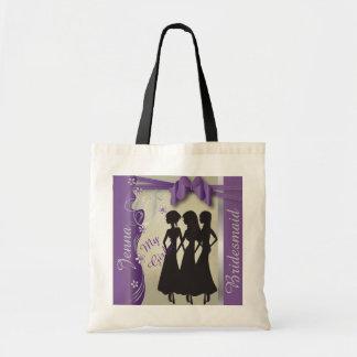 Vintage Classy Amethyst Bridesmaid Design Canvas Bag