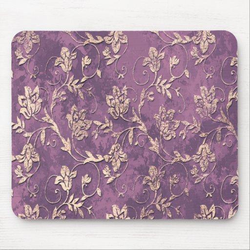 Vintage classy floral  monogram mousepads