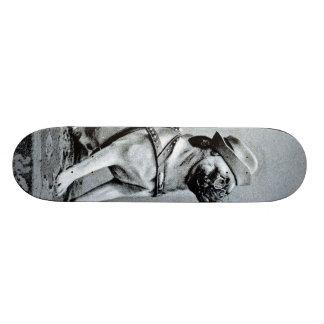 Vintage Classy Pug Photograph Skateboard Deck