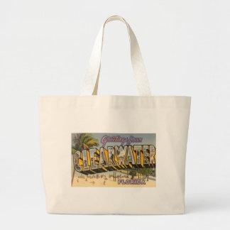 Vintage Clearwater Florida Large Tote Bag