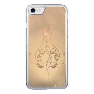 Vintage, clef and piano with Damasks Carved iPhone 8/7 Case