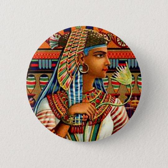 Vintage Cleopatra Egyptian Revival Art Nouveau 6 Cm Round Badge