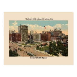 Vintage Cleveland Ohio Public Square Postcard