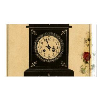 Vintage Clock Advertisement Business Cards