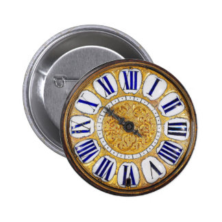 Vintage Clock Antique Pocket Watch 6 Cm Round Badge