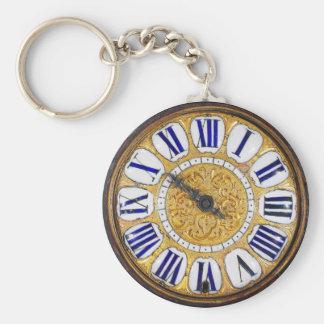 Vintage Clock Antique Pocket Watch Basic Round Button Key Ring