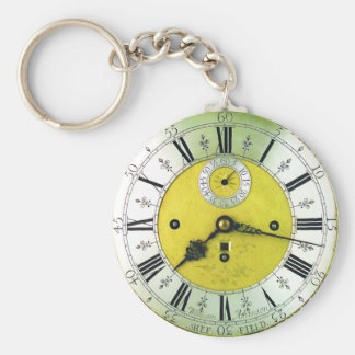 Vintage Clock Antique Pocket Watch Key Ring