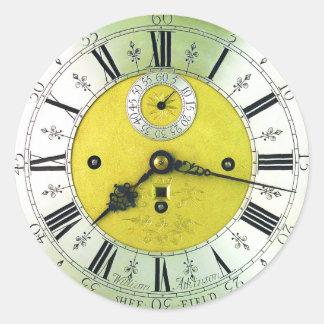 Vintage Clock Antique Pocket Watch Round Sticker