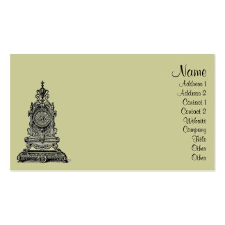 Vintage Clock Double-Sided Standard Business Cards (Pack Of 100)