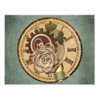 Vintage Clock Collage Photographic Print