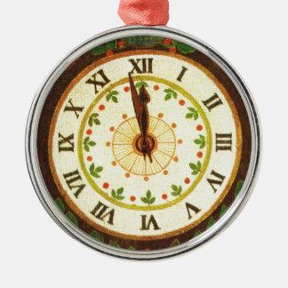 Vintage clock, Countdown to Christmas Christmas Ornament