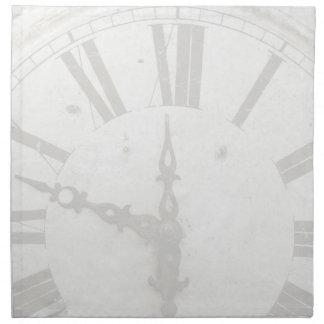 Vintage Clock Custom Dinner Napkin Set (4)