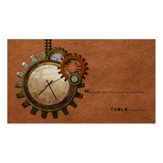Vintage Clock Place Card, Copper Pack Of Standard Business Cards
