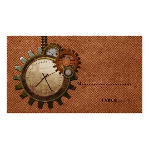 Vintage Clock Place Card, Copper Business Card Templates