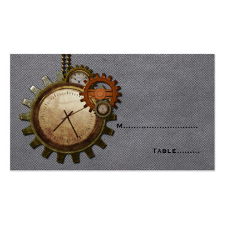 Vintage Clock Place Card, Gray Pack Of Standard Business Cards