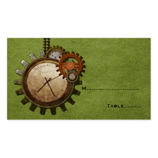 Vintage Clock Place Card, Green Pack Of Standard Business Cards