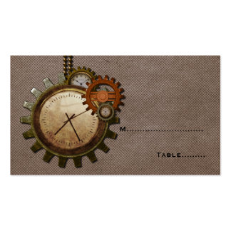 Vintage Clock Place Card, Mocha Pack Of Standard Business Cards