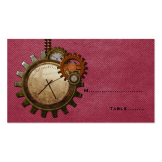 Vintage Clock Place Card, Pink Pack Of Standard Business Cards
