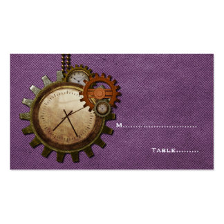 Vintage Clock Place Card, Purple Pack Of Standard Business Cards