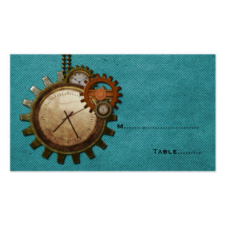 Vintage Clock Place Card, Turquoise Pack Of Standard Business Cards