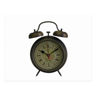 Vintage Clock Postcard