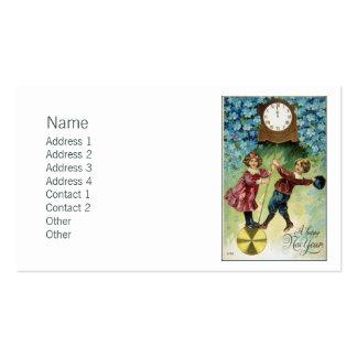 Vintage Clock Turns Midnight Business Card