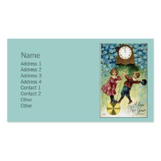Vintage Clock Turns Midnight Business Card Templates