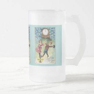 Vintage Clock Turns Midnight Coffee Mug