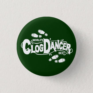 Vintage Clog Dancer Clogging White 3 Cm Round Badge