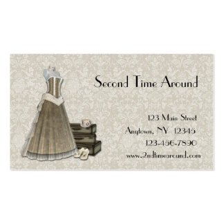 Vintage Clothing Lace Business Card