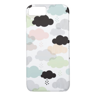 Vintage clouds scandinavian abstract sky pattern iPhone 7 case