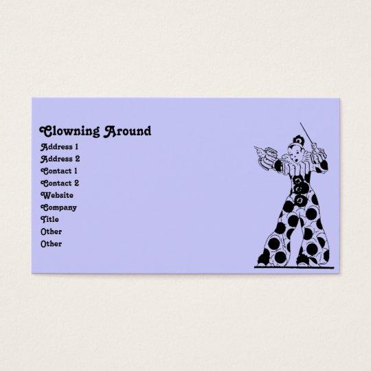 Vintage Clown Business Card