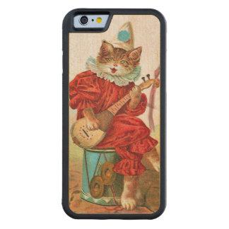 Vintage Clown Jester Musician Cat Mandolin Carved® Maple iPhone 6 Bumper Case
