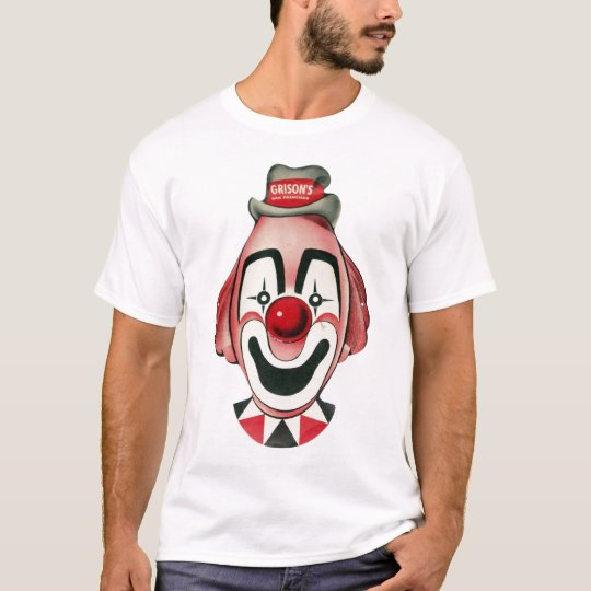 Vintage Clown Mask Illustration T-Shirt